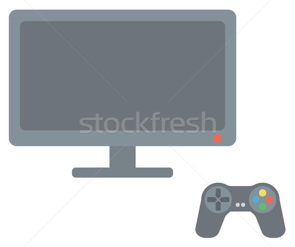 Game controller and screen  Stock photo © RAStudio