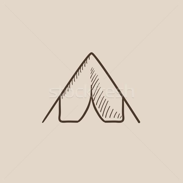Tent sketch icon. Stock photo © RAStudio