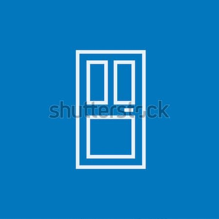 Porte d'entrée ligne icône web mobiles Photo stock © RAStudio