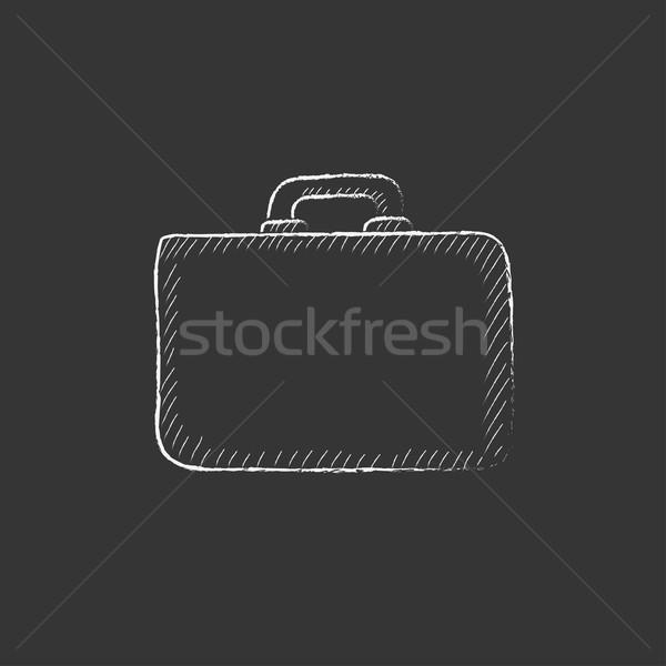 Briefcase. Drawn in chalk icon. Stock photo © RAStudio