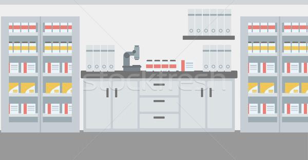 Laboratórium belső vektor terv illusztráció vízszintes Stock fotó © RAStudio