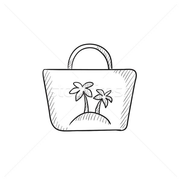 Beach bag sketch icon. Stock photo © RAStudio