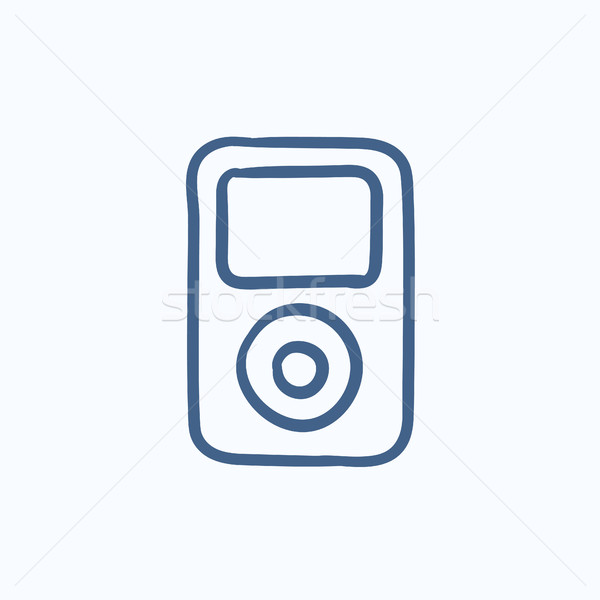 MP3 player sketch icon. Stock photo © RAStudio