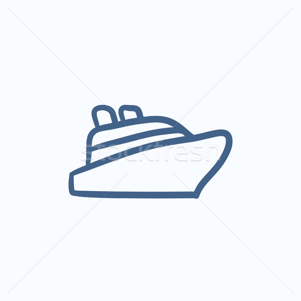 Cruiseschip schets icon vector geïsoleerd Stockfoto © RAStudio