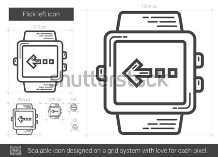 Flick left line icon. Stock photo © RAStudio