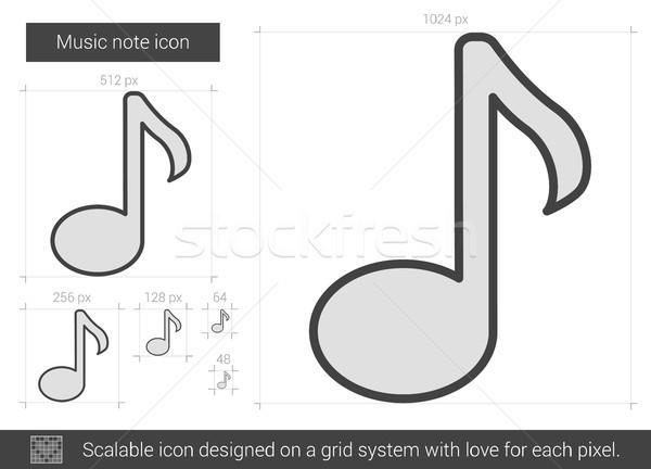 музыку сведению линия икона вектора изолированный Сток-фото © RAStudio