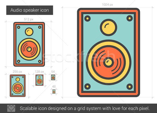 аудио оратора линия икона вектора изолированный Сток-фото © RAStudio