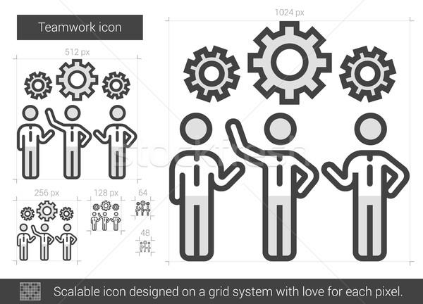 Teamwork line icon. Stock photo © RAStudio