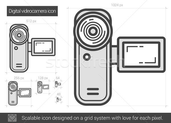 Digital videocamera line icon. Stock photo © RAStudio