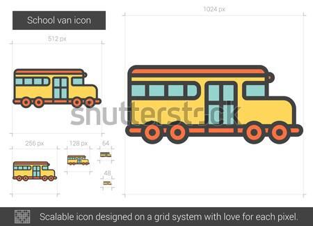 School van line icon. Stock photo © RAStudio