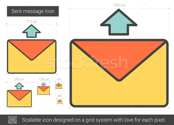 Send message line icon. Stock photo © RAStudio