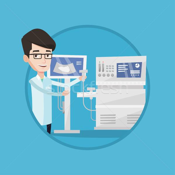 Maschio ultrasuoni medico scanner mano operatore Foto d'archivio © RAStudio