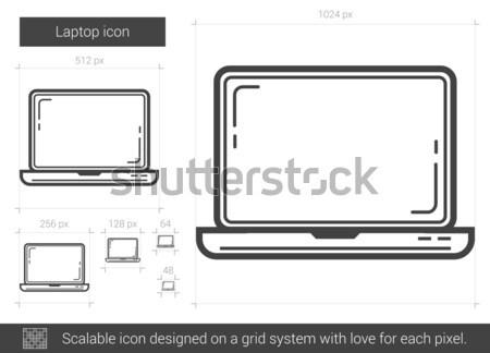 Desktop line icon. Stock photo © RAStudio