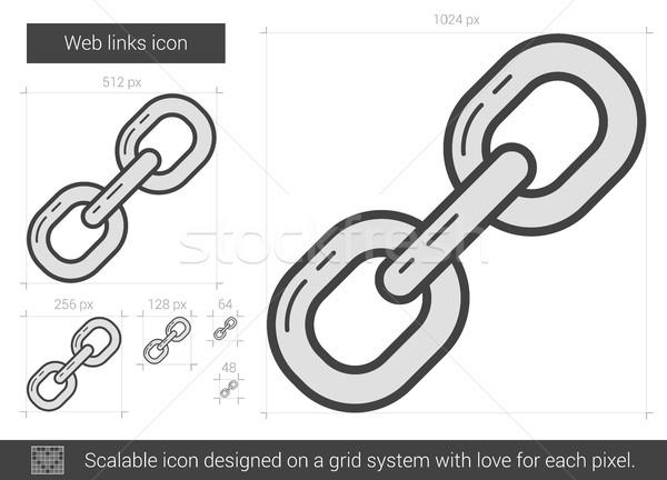 Web links line icon. Stock photo © RAStudio