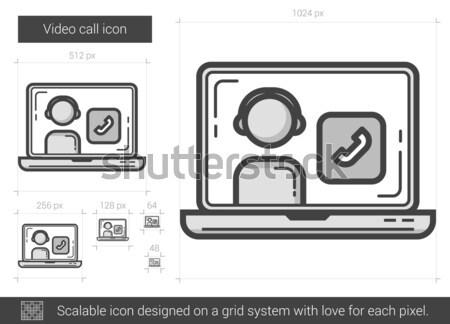 Video call line icon. Stock photo © RAStudio