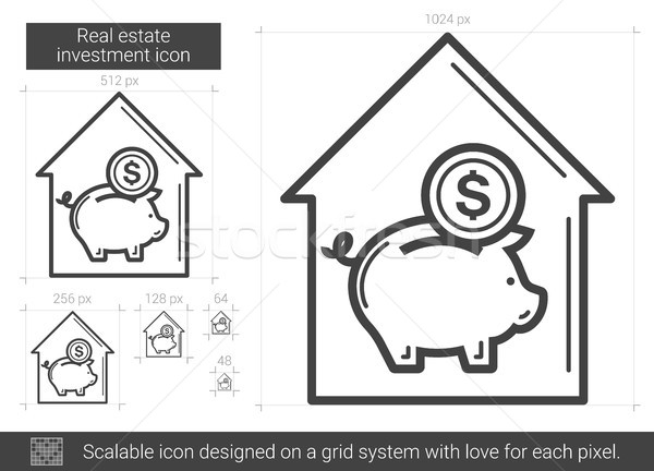 Real estate investment line icon. Stock photo © RAStudio