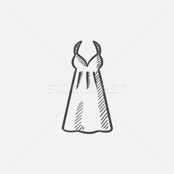 Sarafan sketch icon. Stock photo © RAStudio