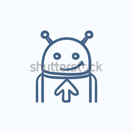 Android with refresh sign sketch icon. Stock photo © RAStudio