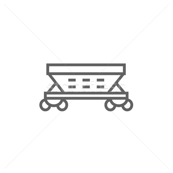 Teher vagon vonal ikon sarkok háló Stock fotó © RAStudio