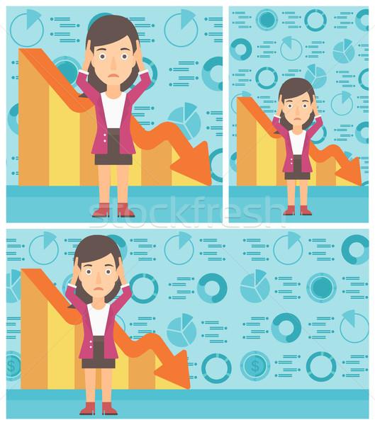 Hoofd vrouwelijke groot vraagteken boven Stockfoto © RAStudio