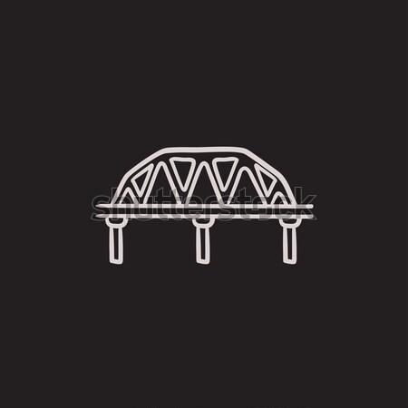 Rail manera puente boceto icono vector Foto stock © RAStudio