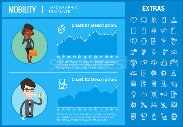 Mobilität Vorlage Elemente Symbole kundengerecht Stock foto © RAStudio