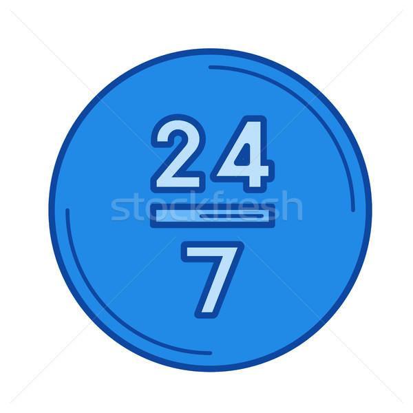 Vinte quatro linha ícone 24 vetor Foto stock © RAStudio