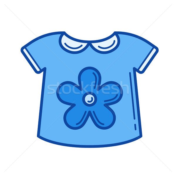 3082b0c03209 Baby shirt line icon. vector illustration © Andrei Krauchuk ...