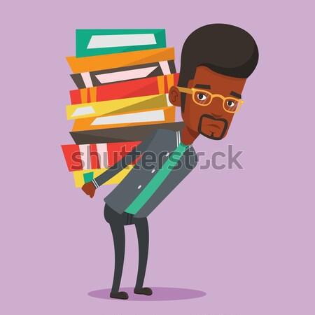 Сток-фото: студент · книгах · назад
