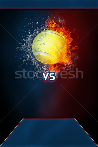 Tennis sports tournament modern poster template. Stock photo © RAStudio