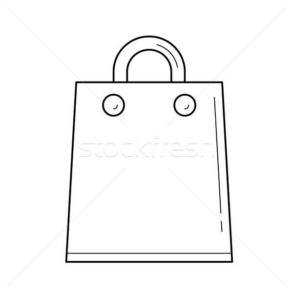 сумку линия икона вектора изолированный Сток-фото © RAStudio