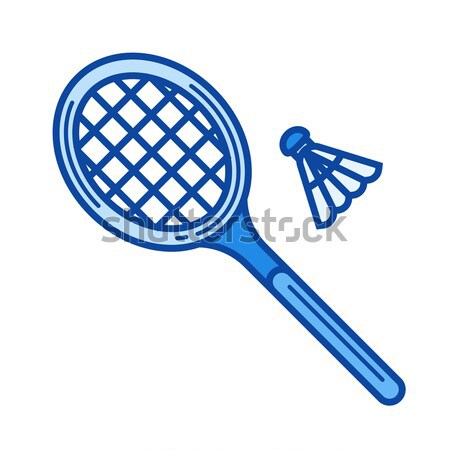 Badminton line icon. Stock photo © RAStudio