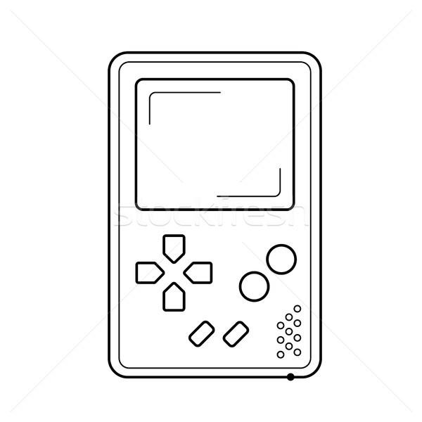 Juego consolar línea icono vector aislado Foto stock © RAStudio