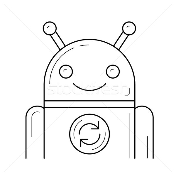App aktualisieren line Symbol Vektor isoliert Stock foto © RAStudio