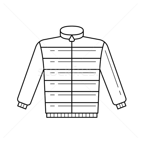 Down feather jacket vector line icon. Stock photo © RAStudio