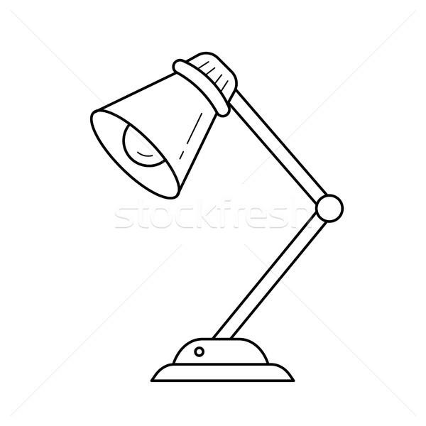 Table lamp vector line icon. Stock photo © RAStudio