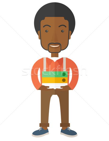 African Streesful employee Stock photo © RAStudio