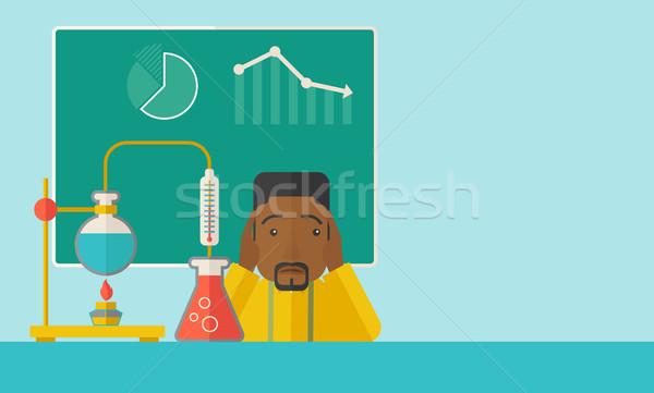 Stockfoto: Wetenschap · leraar · laboratorium · bang · chemicaliën