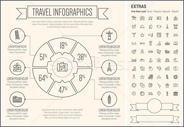 Travel Line Design Infographic Template Stock photo © RAStudio