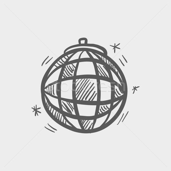 Disco ball szkic ikona internetowych komórkowych Zdjęcia stock © RAStudio