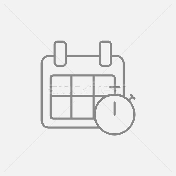 Calendar and stopwatch line icon. Stock photo © RAStudio