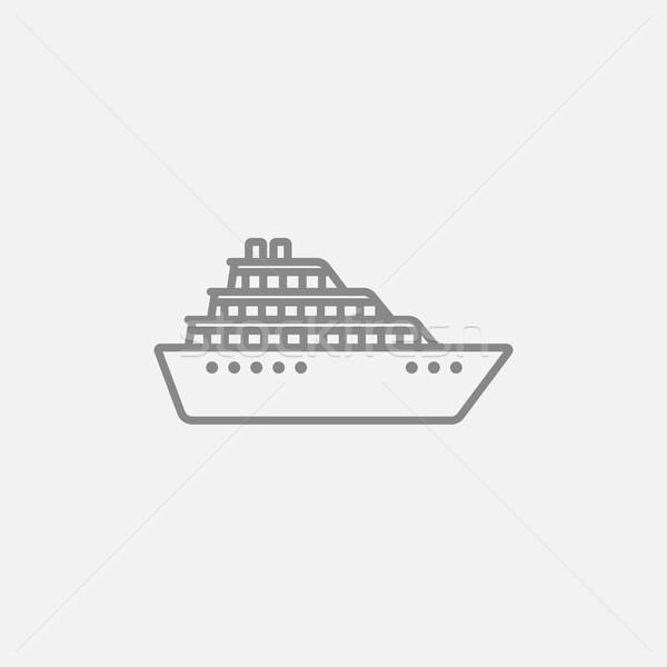 Navio de cruzeiro linha ícone teia móvel infográficos Foto stock © RAStudio