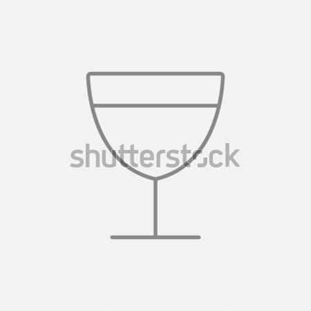 Vetro vino line icona web mobile Foto d'archivio © RAStudio