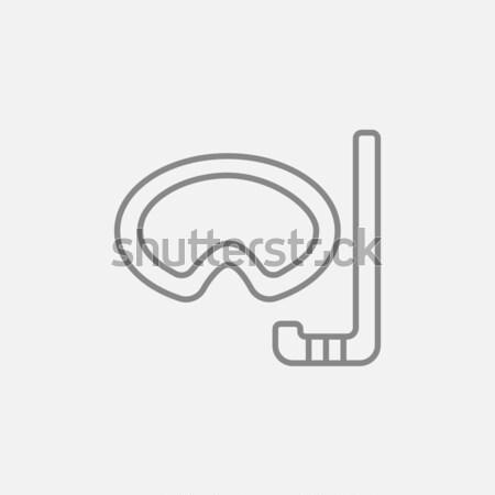Mask and snorkel line icon. Stock photo © RAStudio