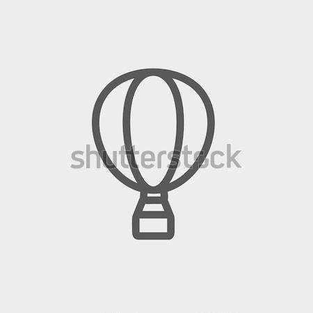Balonem line ikona internetowych komórkowych infografiki Zdjęcia stock © RAStudio