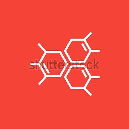 Químico fórmula linha ícone teia móvel Foto stock © RAStudio