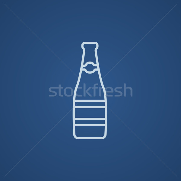 Stock photo: Glass bottle line icon.