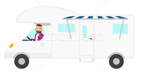 Man driving motor home. Stock photo © RAStudio