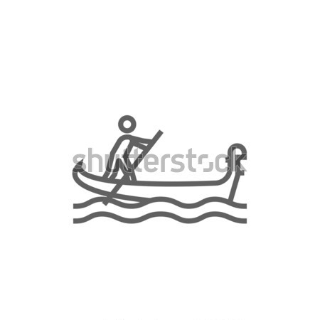 Marinero remo barco línea icono web Foto stock © RAStudio