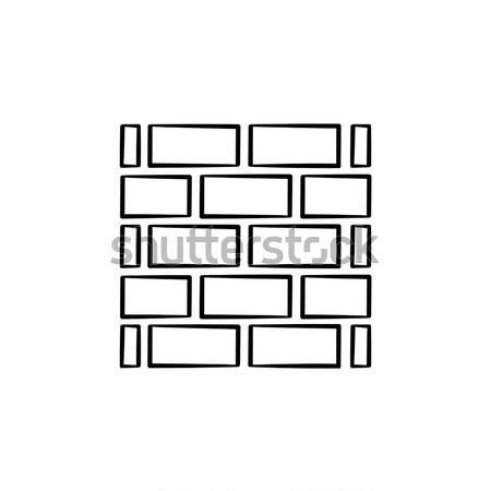 Brickwall line icon. Stock photo © RAStudio